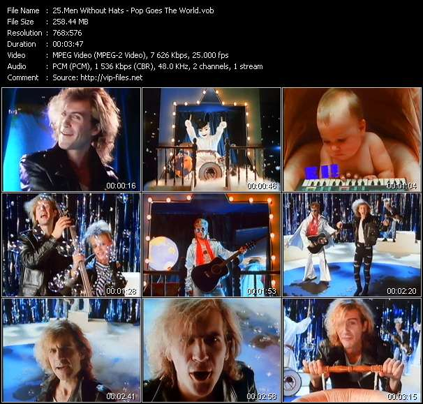 Screenshot of Music Video Men Without Hats - Pop Goes The World