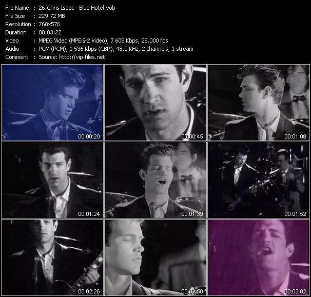 Screenshot of Music Video Chris Isaac - Blue Hotel