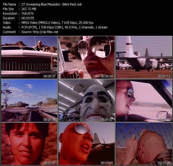 Screenshot of Music Video Screaming Blue Messiahs - Bikini Red