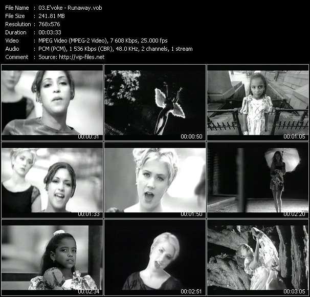 Screenshot of Music Video E'voke - Runaway