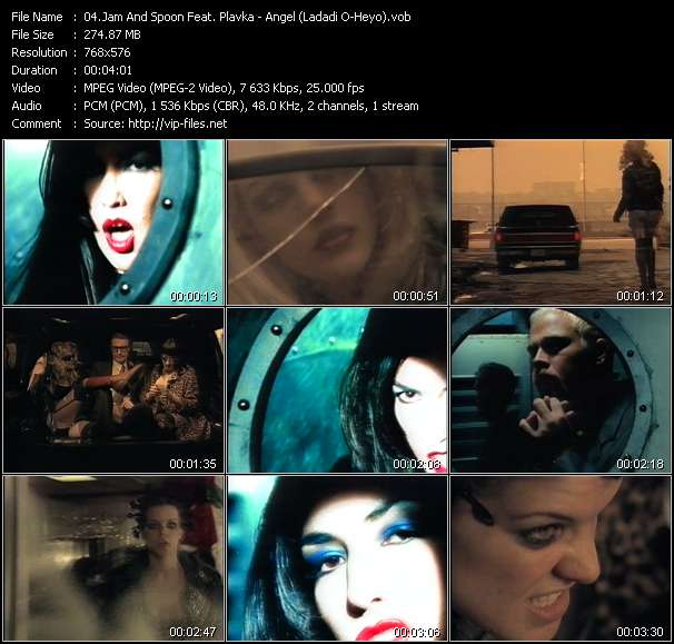 Screenshot of Music Video Jam And Spoon Feat. Plavka - Angel (Ladadi O-Heyo)