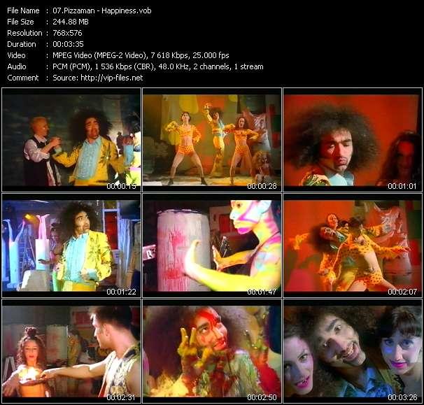 Screenshot of Music Video Pizzaman - Happiness