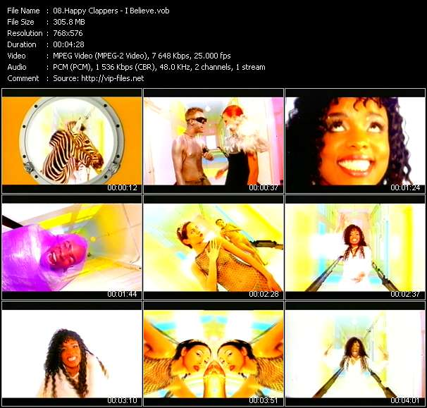 Screenshot of Music Video Happy Clappers - I Believe