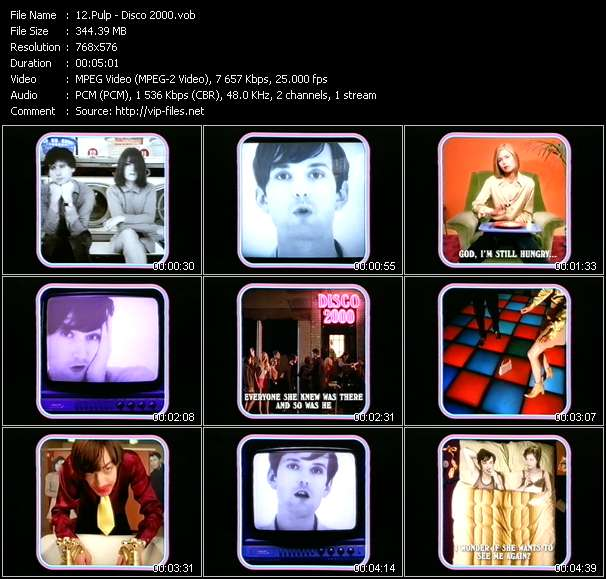 Screenshot of Music Video Pulp - Disco 2000