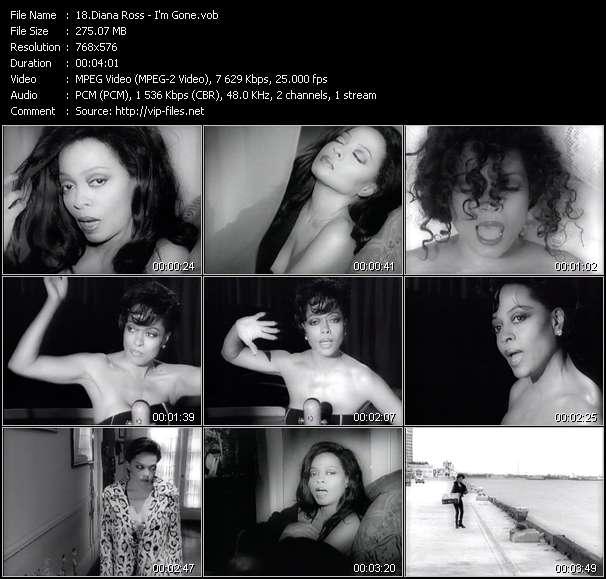 Screenshot of Music Video Diana Ross - I'm Gone