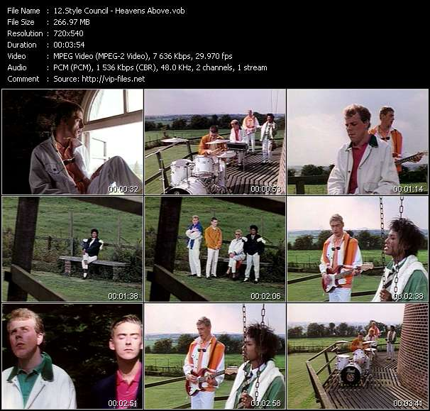 Screenshot of Music Video Style Council - Heavens Above