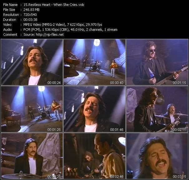 Restless Heart video vob