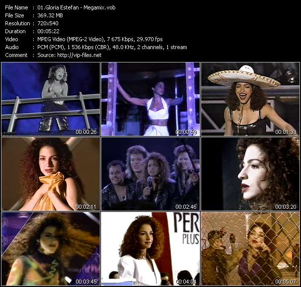 Screenshot of Music Video Gloria Estefan - Megamix