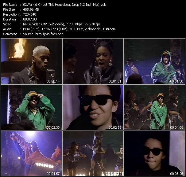 Screenshot of Music Video Ya Kid K - Let This Housebeat Drop (12 Inch Mix)