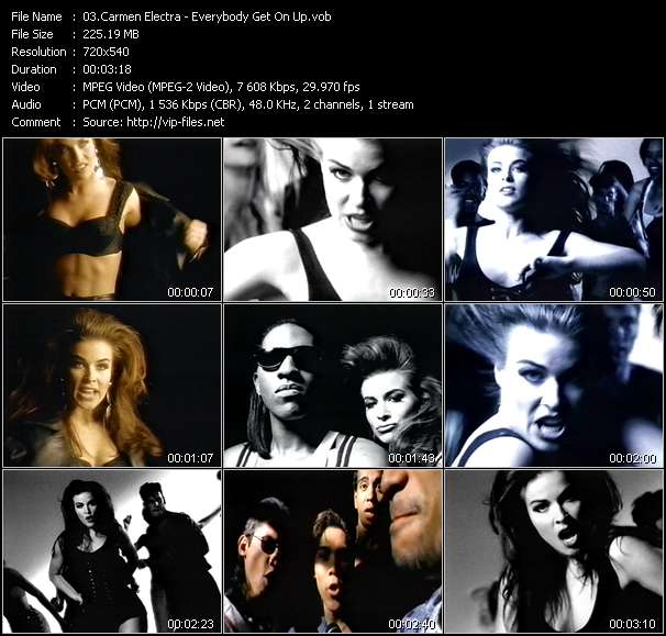 Screenshot of Music Video Carmen Electra - Everybody Get On Up