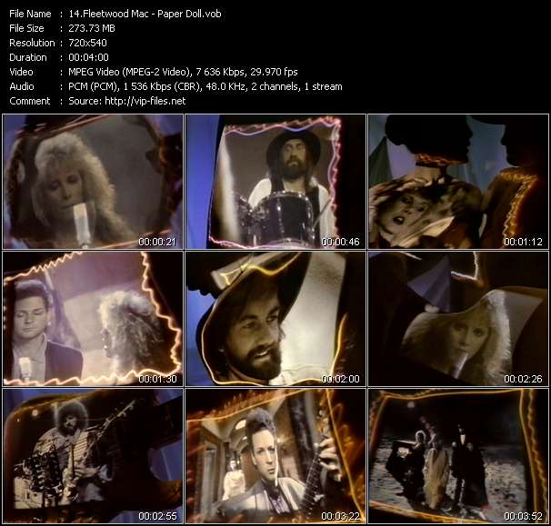 Screenshot of Music Video Fleetwood Mac - Paper Doll