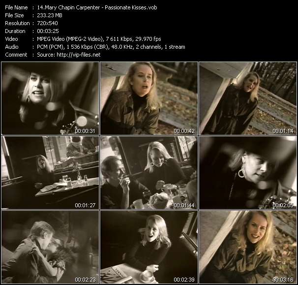 Mary Chapin Carpenter video vob