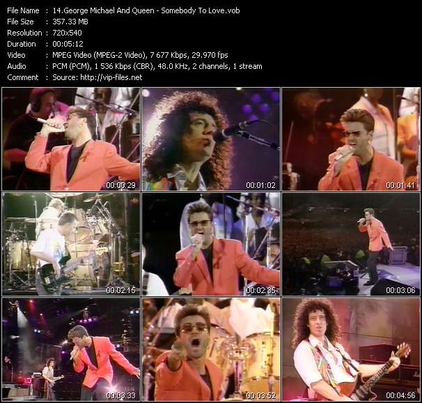George Michael And Queen video vob
