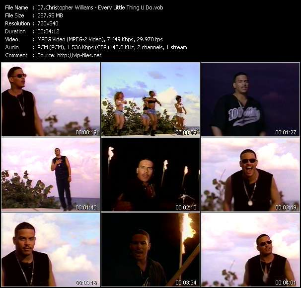 Christopher Williams video vob