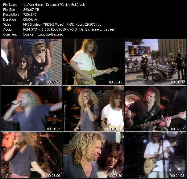 Van Halen video vob