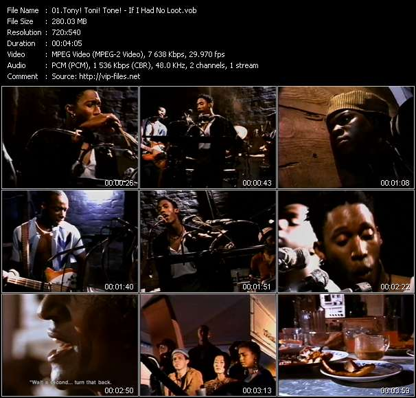 Screenshot of Music Video Tony! Toni! Tone! - If I Had No Loot