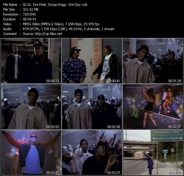 Screenshot of Music Video Dr. Dre Feat. Snoop Dogg - Dre Day