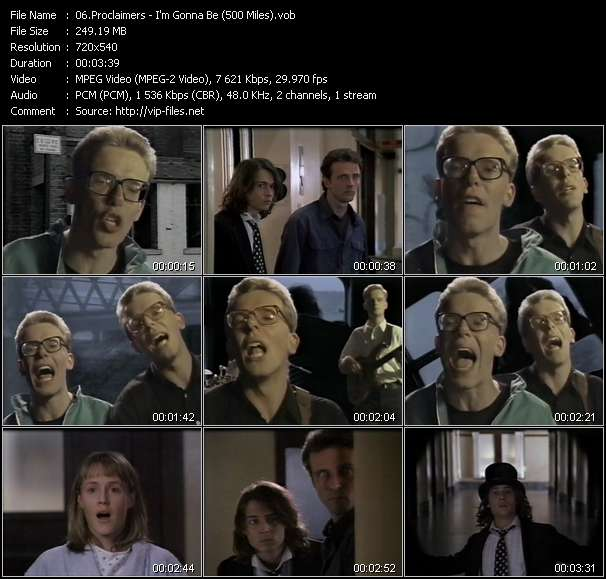 Screenshot of Music Video Proclaimers - I'm Gonna Be (500 Miles)