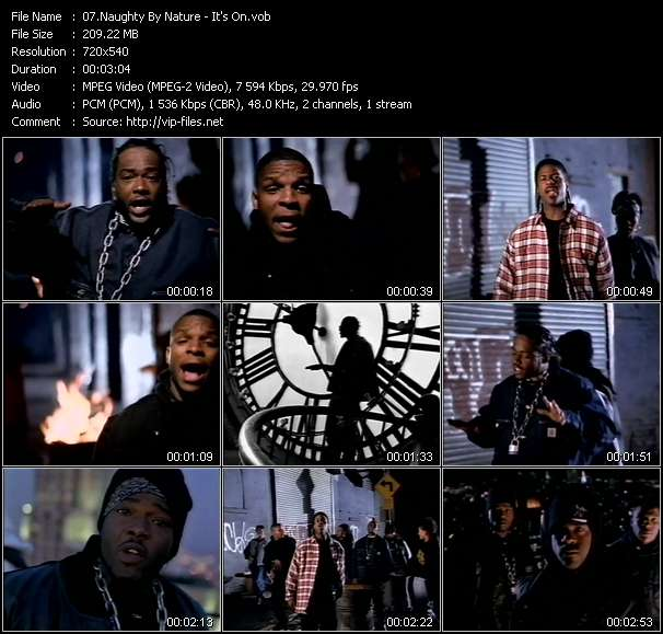 Screenshot of Music Video Naughty By Nature - It's On