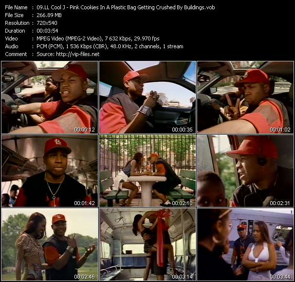 Screenshot of Music Video LL Cool J - Pink Cookies In A Plastic Bag Getting Crushed By Buildings