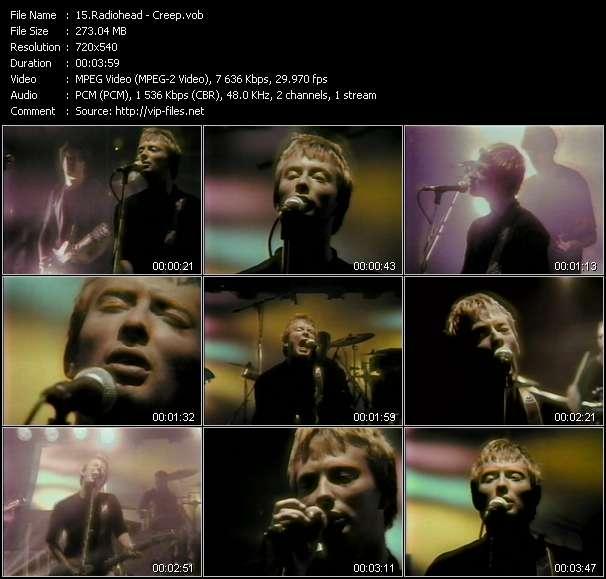 Screenshot of Music Video Radiohead - Creep