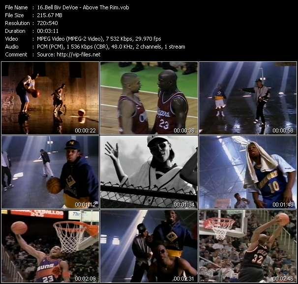 Screenshot of Music Video Bell Biv DeVoe - Above The Rim