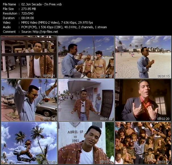 Screenshot of Music Video Jon Secada - I'm Free