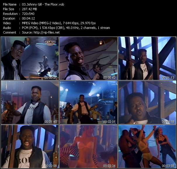 Screenshot of Music Video Johnny Gill - The Floor