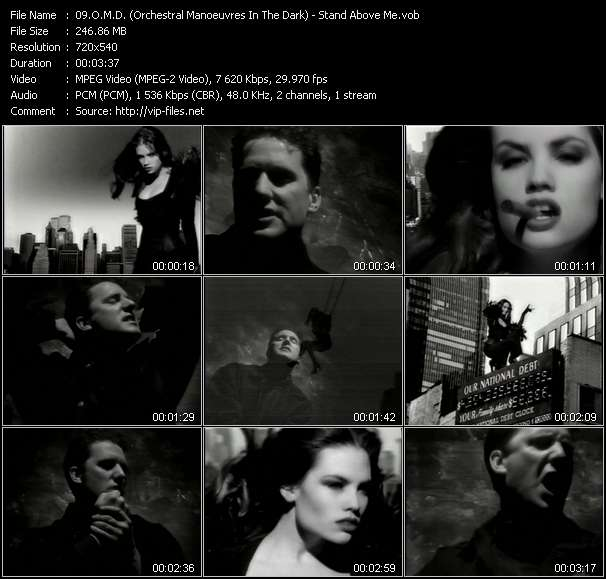 Screenshot of Music Video O.M.D. (Orchestral Manoeuvres In The Dark) - Stand Above Me