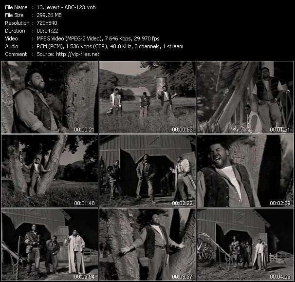 Screenshot of Music Video Levert - ABC-123