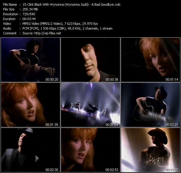 Clint Black With Wynonna (Wynonna Judd) clips musicaux vob