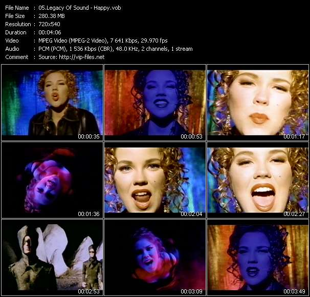 Screenshot of Music Video Legacy Of Sound - Happy