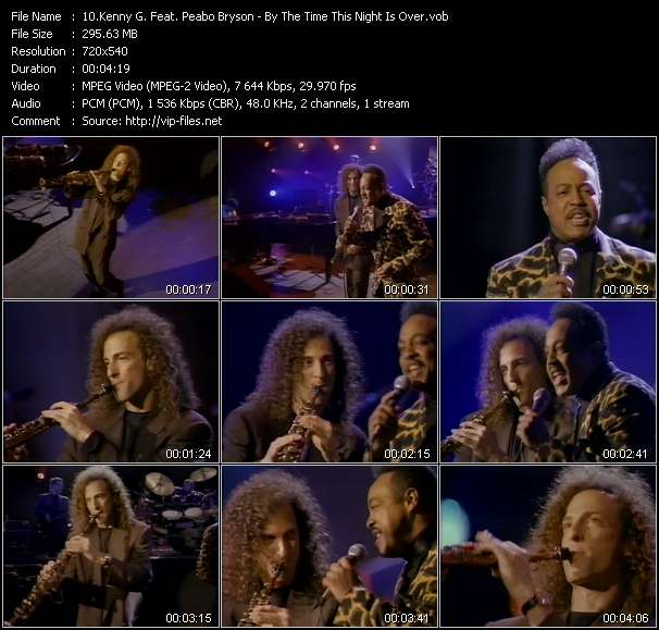 Screenshot of Music Video Kenny G. Feat. Peabo Bryson - By The Time This Night Is Over