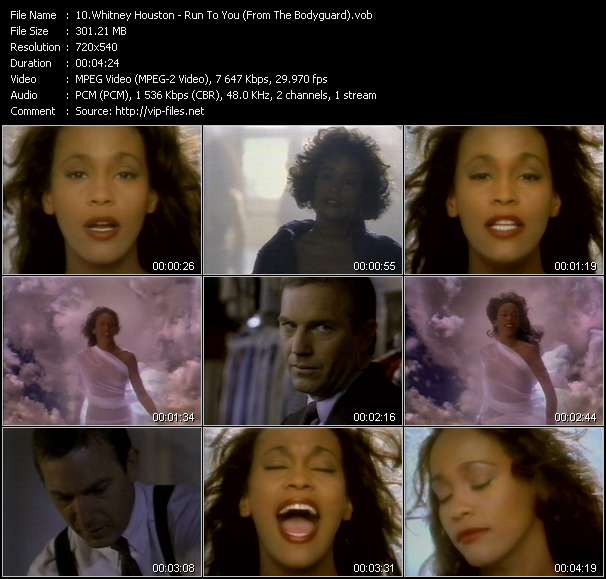 Screenshot of Music Video Whitney Houston - Run To You (From The Bodyguard)
