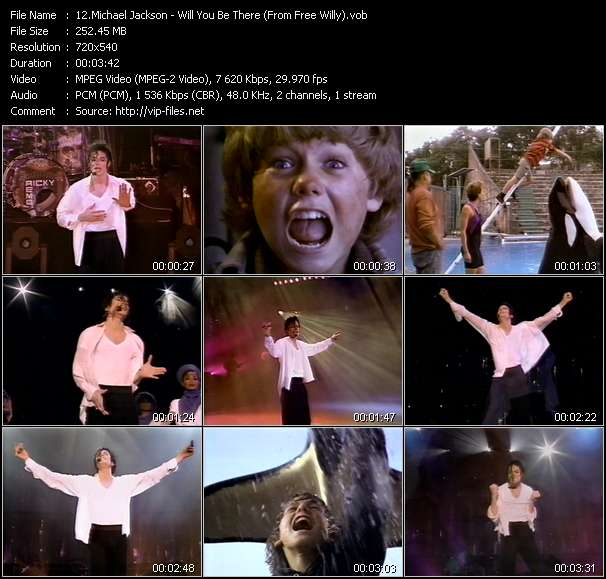 Screenshot of Music Video Michael Jackson - Will You Be There (From Free Willy)