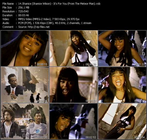 Screenshot of Music Video Shanice (Shanice Wilson) - It's For You (From The Meteor Man)