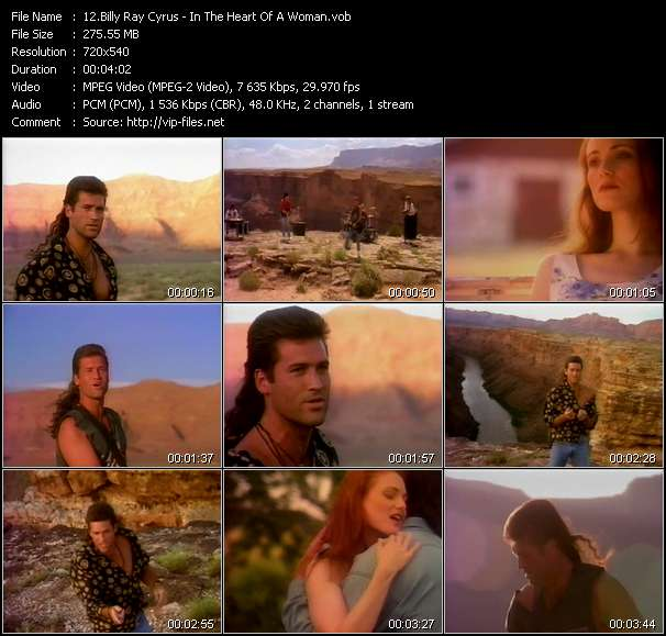 Billy Ray Cyrus video vob