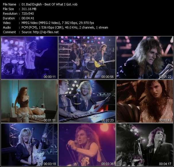 Screenshot of Music Video Bad English - Best Of What I Got