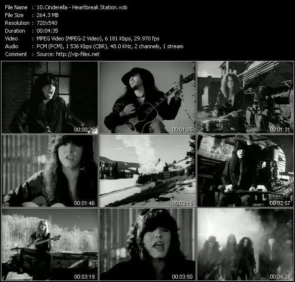 Screenshot of Music Video Cinderella - Heartbreak Station
