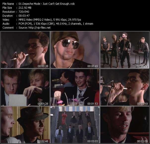Screenshot of Music Video Depeche Mode - Just Can't Get Enough