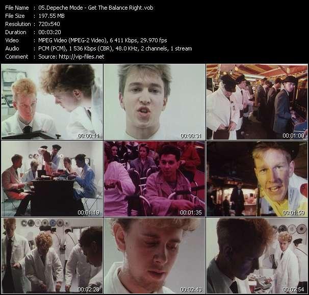 Screenshot of Music Video Depeche Mode - Get The Balance Right