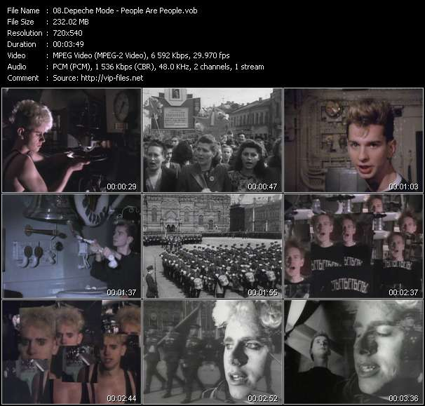 Screenshot of Music Video Depeche Mode - People Are People