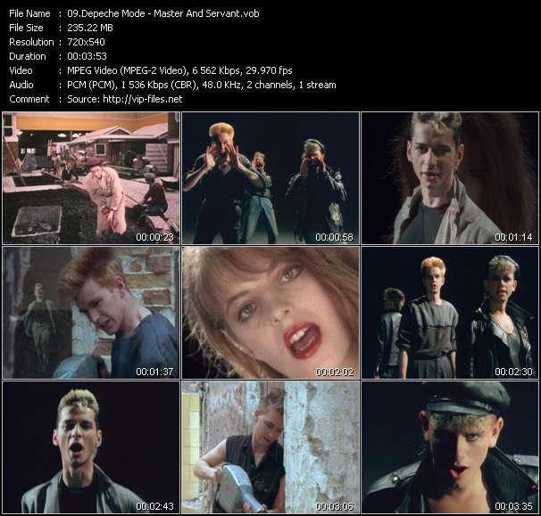 Screenshot of Music Video Depeche Mode - Master And Servant