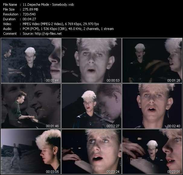 Screenshot of Music Video Depeche Mode - Somebody