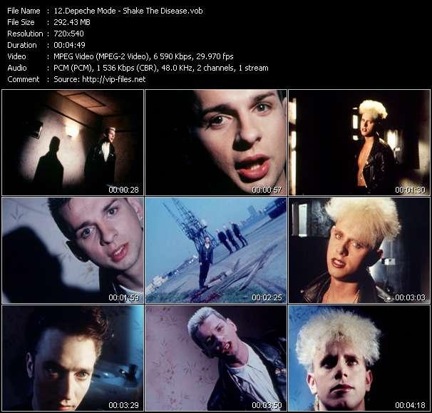 Screenshot of Music Video Depeche Mode - Shake The Disease