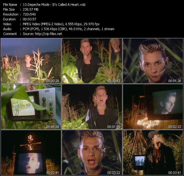 Screenshot of Music Video Depeche Mode - It's Called A Heart