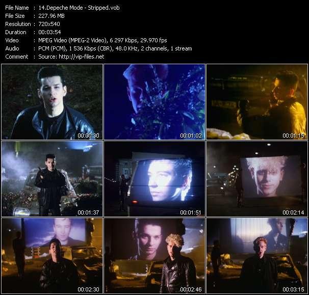 Screenshot of Music Video Depeche Mode - Stripped