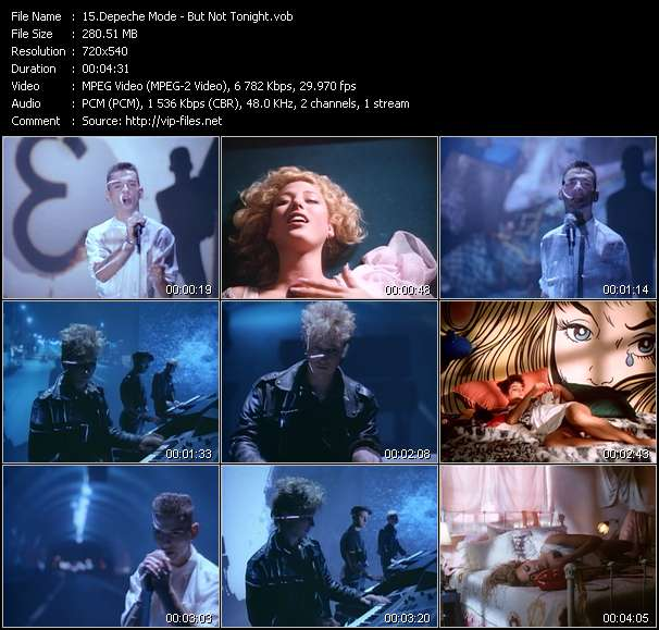 Screenshot of Music Video Depeche Mode - But Not Tonight