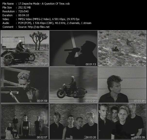 Screenshot of Music Video Depeche Mode - A Question Of Time