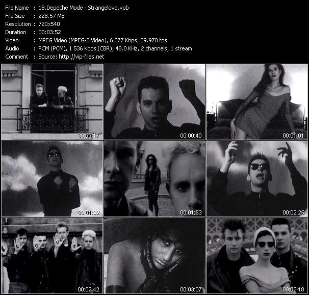 Screenshot of Music Video Depeche Mode - Strangelove